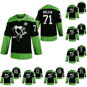 Pittsburgh Penguins Hockey Fight nCoV Евгений Малкин Джерси Джек Джонсон Джастин Шульц Патрик Марло Летанг Хоккей Трикотажные зеленый