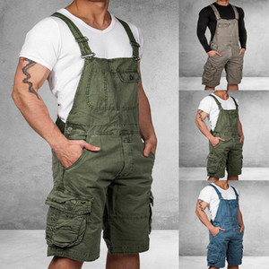 Männer 3 Farben Overall plus Größen-beiläufige Jogger lose Multi Pocket Street Fashion Solid Strapse Male Berufsbekleidung Harajuku