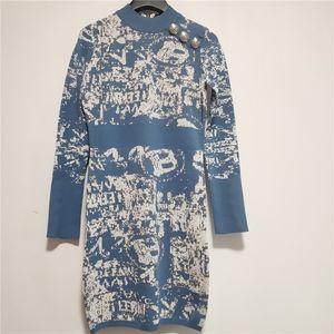 Designer Frauen Kleider Kleider Luxus Damen Kleid Kleidungsgurt Kleid Herbst Heiße Marke Frauen Top Tees Strick Sexy Frauen Party Kleid 20816k