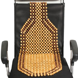 Universal Summer Car Seat Covers Wooden Bead Beaded Massage Seat Cushion Cover Van Truck Office