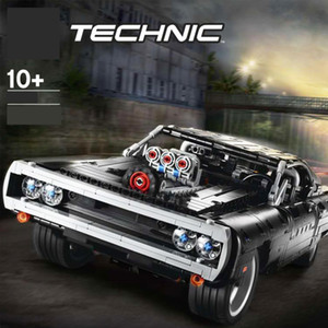 2020 NUEVA TECHNIC CAR Series Supercar DOM S Dodged Charger 42111 Modelo Lepining Lepining Blocks Bricks Toy