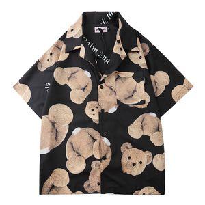 Lüks Erkek Tasarımcı Gömlek Modelleri Firmate İş Gömlekler PALM Moda Casual Marka Gömlek ANGELS'ın çanta ayakkabı patlama