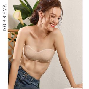DOBREVA dentelle sexy dos nu Bras Femmes Lingerie Brassiere pleine Coupe Invisible multivoie Soutien-gorge sans bretelles Sous-vêtements