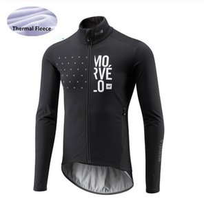 2020 Morvelo Men's Cycling Jersey Long Sleeve Winter Thermal Fleece Ropa ciclismo Bicycle Wear Bike Clothing