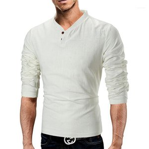 Color T-Shirts with Button Casual V-Neck Slim Short Sleeve Tees Mens Spring Autumn T-Shirts Fashion Natural