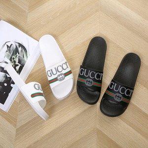Moda GG classica Scarpe spiaggia Infradito per gli uomini Pantofole donna Gucci in pelle piatto tallone canale signore Sliders Sandali