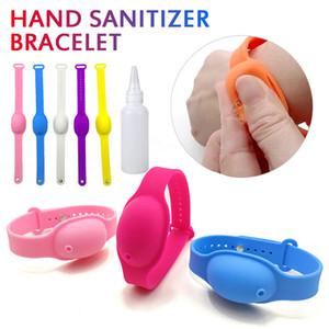 100Pcs Refill silicone wristband Hand Sanitizer Bracelet Dispenser with Empty Bottle Accept Custom Logo Reusable and Adjustable Bracelet