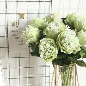 Avrupa Yapay İpek Hollandalı Şakayık Çiçeği Ana Otel Masa Dekorasyon Sahte Çiçek Düğün Sahne Dekorasyon Valentine'sDay Hediye UsK8 #