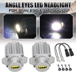 OLOMM 2ST Angel Eyes LED-Scheinwerfer Marker Birnen-Licht-Fehler frei für E90 E91 06-08