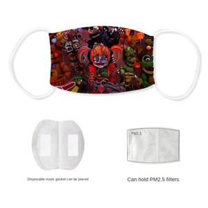 Cinco noches en Freddy impresos anti-niebla máscara de lavado de seda del hielo con filtro