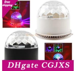 RGB LED 무대 조명 크리스탈 매직 다이아몬드 볼 레이저 빛 해바라기 디스코 디제이 파티 무대 조명을 48leds