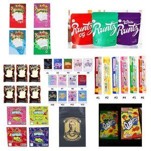 New NeRds ROPE Bites WONKA Dank Gummies Runtz SOUR GUSHERS Gasco GARRISON LANE Medicated Infused Packaging Mylar Bag Package