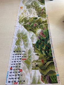 Fai da te a mano Hobby Ricamo Punto Croce Kit Grande Paesaggio Wall Map ricamo punto croce Fondali regalo 320 * 92 centimetri Wedding Decoration