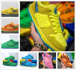 Haute qualité SB Dunk x Travis Scotts sports Course à pied Hommes Chaussures Femmes Low Three Bear Paquet Dunks Sneaker Planches à roulettes Chaussures Baskets