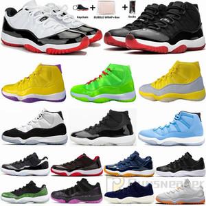 Nike Air Jordan Dimensione 13 Metallic Gold 11 Blue Velvet Bassa Bianca Bred 11s scarpe da basket Jumpman XI Concord 45 Baroni 72-10 Donne Sneakers uomini con la scatola