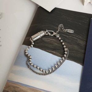stile bwHO6 coreano S925 semplice braccialetto moda temperamento d'argento Thai braccialetto Student Tonda del tutto-fiammifero silverwomen sterline