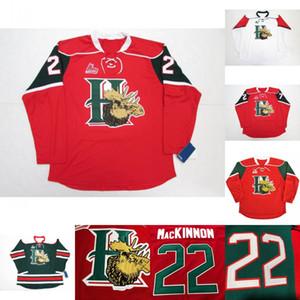 Mooseheads de Halifax 2012 Pres 22 Nathan MacKinnon 27 Jonathan Drouin maillot de hockey rouge Accueil Cousu Logos brodés Maillots
