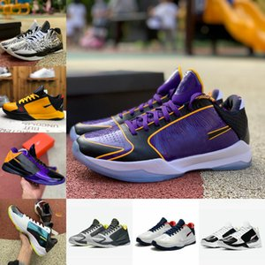 2021 Shoes ZK5 KB5 5s 5X Champ VEADO Bruce Lee Protro Basquetebol Lakers roxo ouro 2K20 Chaos Mamba Zoom Zk 5 V Mens Outdoor Sneakers