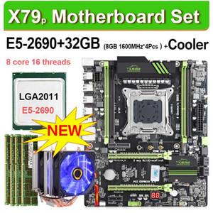 징샤 X79P LGA 2011 메인 보드는 CPU 제온 E5 2,690 4x8GB = 32기가바이트 인 1600MHz DDR3 ECC REG 메모리 및 CPU 쿨러 ATX USB3.0 SATA3 설정할