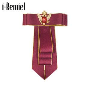 i-Remiel cravate tissu Bows Broche fleur de cristal Pins et Broches Accessoires cravate Bowtie Broches Epingle Pour Femmes Hommes