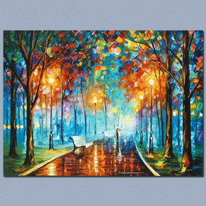"Leonid Afremov ""Misty Mood"" Home Decor pintado à mão HD cópia da pintura a óleo sobre tela Wall Art Canvas Pictures 200924"