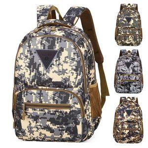 Camuflaje del bolso de escuela de camuflaje Mochila Bolsa de moda Traval Bolsas de nylon impermeable Mochila para el recorrido al aire libre DWD843