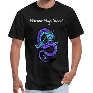 vendimia de la aptitud Harbor High School Ropa para Hombres camiseta homme Westfalia camiseta de gran tamaño ~ s 6XL normales