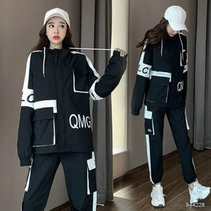 20FW New Women's Tracksuits Fashion Autumn Running Sports Two-piece Suit Trend Letter Printing Womens Tracksuits 3 Colors Asian Size S-2XL