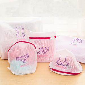 Çamaşır Yıkama Çanta Seti Katlanabilir Narin çamaşır Bra Çorap İç Giyim Elbise Poşeti Makine Giyim Koruma Net Basket FFA4382
