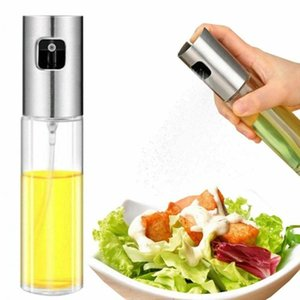 Glass Olive Oil Sprayer Refillable Spray Empty Bottles Vinegar Mist Water Pump Gravy Boats Grill BBQ Sprayer Kitchen