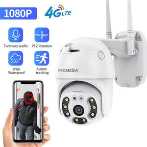 미니 카메라 InqMega 4G 카메라 WiFi 2MP 1080P PTZ 돔 무선 GSM SIM 카드 IP 보안 야외 CCTV P2P IR 야간 투시 30m