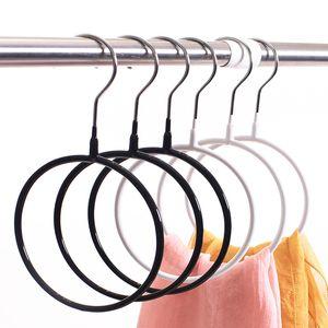 Rack di stoccaggio Scarf Silk Metal gancio Anello rotondo Organizzatore toroidale Circle l'abbigliamento cintura Tie Towel Abbigliamento scaffale Holder LX1458