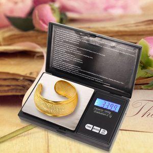 Цифровые карманные весы Mini 100 / 200/00 / 500G x 0,01 г 1000 г х 0,1 0,1 г Масштаб электронные точные украшения золото высокая точность кухня портативное взвешивание с розничной коробкой