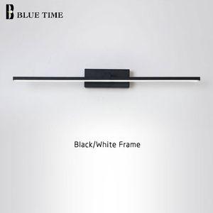 새로운 디자인 패션 LED 벽 램프 욕실 침대 옆 현대 미러 프론트 라이트 BlackWhite 완료 LED 벽 조명 AC220V110V 들어