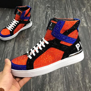 New Mens Shoes Sneakers Plus Size High Quality Casual Men Shoes Luxury Boots Winter Comfort Mens Shoes Casual Money Beast Hi -Top Style Ankl