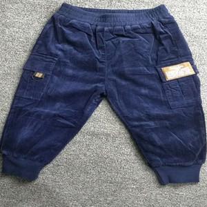 BOBU children's clothing baby boy winter casual pants children dark blue sports pants 100% cotton trousers