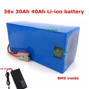 36v 40Ah 30Ah lithium li-ion High power BMS Battery Pack for ebike Motor Solar wind Energy car LED ups ess system + 5A charger