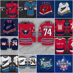 Capitales de Washington 2020 Nouveau Vintage 74 John Carlson 13 Jakub Vrana Tyler Duchaine Screaming Eagle Couleur Troisième Jersey