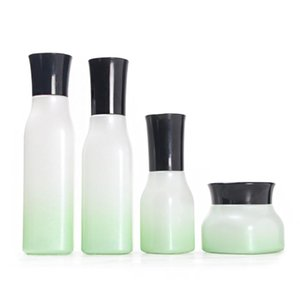 50pcs Skin Care Packaging Bottle,Gradient Green Inner Stopper Bottle 100ml