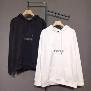 Nouveau mode classique 19FW Paris Drapeau de la Couronne Sweat à capuche Homme Femme Rue Pull Hoodies Automne Hiver outwear chandail DF08