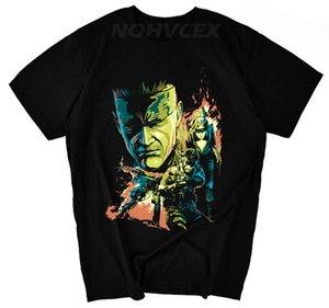 Metal Gear Solid MGS Fox Video Game Mens Men T Shirt T-shirt Moda manga curta de algodão T-shirt Tee