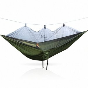 Camping Hammock Hanging-Bed Parachute Fabric Mosquito-Net Sleeping-Swing Hunting Outdoor 1OgN#
