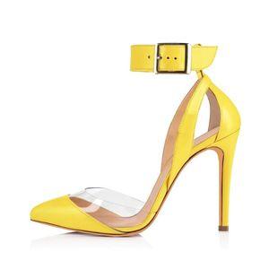 LOSLANDIFEN Fashion Women Stilettos Ankle Strap High Heels Sexy Sandals Summer Pointed Toes Pumps Party Wedding Dress Shoes