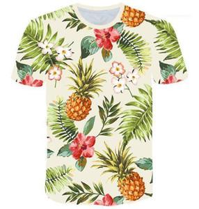 هاواي نمط قصيرة الأكمام الصيف التي شيرت أوم طاقم الرقبة عارضة قماش ملابس رجالي مصمم الرجال طباعة T قميص ملون