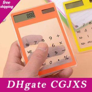 Chiffres écran tactile ultra mince calculatrice transparent solaire Stationery clair Scientific Calculator Élève Livraison gratuite Bureau