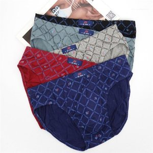 Briefs Male Daily Underwears Breathable Mens Mid Waist Underpants Polka Dot 5XL Casual Comfortable