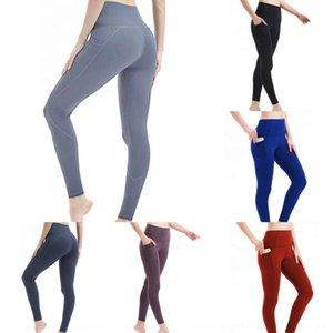 DCqjv quadril Yiwu cintura alta yoga 2019 calças apertadas Yoga calças apertadas elevação esportes fino leggings bolso lateral