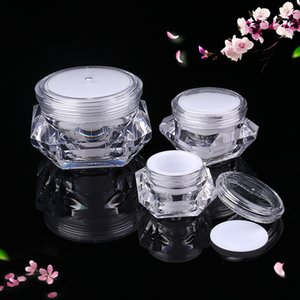 5g 10g 15g empty cosmetic container skin care sample bottle diamond shape plastic cream jar WB2550