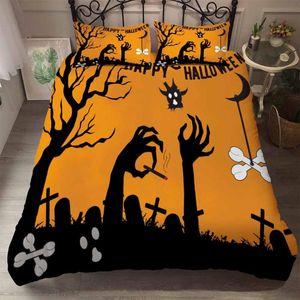 BEST.WENSD Nightmare Before Christmas Bedding Set Cartoon Motif Linge de lit Housse de couette Pillowcases double pleine Reine King Size