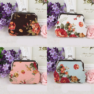 Black Handbag White Coin Purse Cloth C2 Wallet Colorful Container Flowers Fashion Big Ladies Women 1 6qs Rose Gcoal